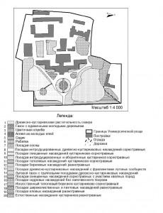 Карта растительности Ун роща